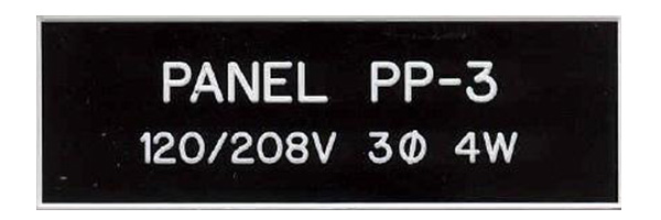 control electrical panel labels carolina design With electrical panel phenolic labels